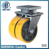 Superhochleistungseisen-Kern PU-Schwenker-Fußrollen-Rad