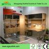 Mobília de madeira do restaurante dos pés do aço inoxidável ajustada para a venda