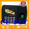 CE. Аттестованный FCC Fingerprint машина времени и посещаемости машины