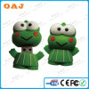 USB verde Memory del USB Flash Drive del PVC de Frogs Shape para Promotion en PVC Materials