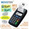 Movotek GPRS POS Terminal met RFID, Nfc Card Reader en POS Printer voor Bus Ticketing