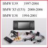 Reproductor de DVD especial del coche para BMW E39, BMW E53, BMW X5, BMW E38