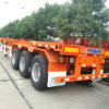 de 3axle 40FT do esqueleto do recipiente reboque Semi