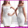 Fashion novo Brand 2015 Design Bandage Dress Sexy Summer Cocktail Dress, para Lady Elegant Beading Evening Dress (C-129)