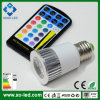 Наивысшая мощность СИД E27 GU10 MR16 5W RGB СИД Light 16 Colors СИД Spot Light Dimmable Bulb Lighting с 28keys Remote Controller