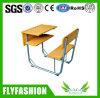 El bastidor de metal de alta calidad de la Escuela de madera escritorio y silla (SF-89S)