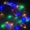 Colore giallo domestico leggiadramente della casella della decorazione + di batteria del giardino della stringa stellata degli indicatori luminosi del collegare di rame del LED