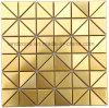 De gouden Tegel van het Mozaïek van het Roestvrij staal van de Binnenhuisarchitectuur Shinning