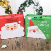 Saco de papel personalizado do presente do saco do Natal com punhos