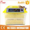 As aves domésticas automáticas da venda quente Egg o ovo da incubadora 96 (YZ-96)