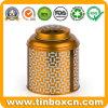 Carrello nero dello stagno del tè del foglio per la scatola metallica dorata del tè del metallo