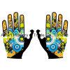 L'attrezzo su ordinazione di motocross del guanto protettivo di Skidproof mette in mostra i guanti