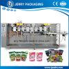 Alimentação de fábrica stand-up pouch Saco com fecho de correr em máquina de embalagem de Enchimento