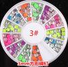 새로운 Design Nail Art Decoration Stickers Metallic Stud Colour Rivet 3mm Square Design