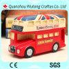 Casella di moneta BRITANNICA del regalo di promozione del bus di stile della via