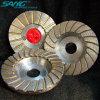 Roda de moagem abrasiva diamante Double Row para granulação de mármore e trituração de concreto