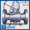 Didtek forjó el acero reduce la vávula de bola del muñón de la carrocería del alesaje 3PCS