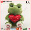 Juguete suave de la rana de la felpa del animal relleno del regalo de la tarjeta del día de San Valentín