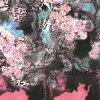 Tela de seda do cetim da impressão de Digitas com projeto da flor (TLD-0004)