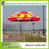 Impresión personalizada de acero durable recta Jardín plegable del parasol de playa