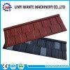 Material para telhados metal revestido a pedra de folha de metal de calhaus rolados