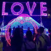 Tira de iluminação de LED para casamento Tira de amor decorativa Twinkle Fairy Lights