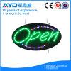 Hidly Oval De Alto Brillante LED Open Sign
