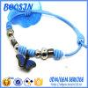 China Ajustável estilo romântico fio de algodão Parafinado Bracelete Nó 3954