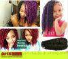 Волосы 100% оплетки оплетки закрутки Mambo Kanekalon африканские черные Jumbo