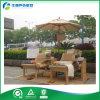 Cadeira da praia ao ar livre/Lounger de madeira de Sun/cama ao ar livre com mesa de centro (FY-034CB)