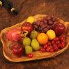 Assiette en bois naturel en bois sculpté
