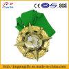 Doppia medaglia su ordinazione dello smalto dell'emblema del metallo di placcatura con il nastro