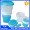 Design agradável Breakfast Cereal Cup com salada Cup de Spoon/Portable
