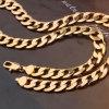 Hombre clásica joyería Figaro collar chapado en oro