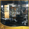 Stack Helical Gear 2 couleurs en plastique film Flexo Printing Machine