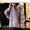 女性のコートの冬のOmbreの衣類の女性のどの毛皮のコート
