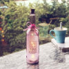 Diseño modificado para requisitos particulares día de fiesta multicolor de la boda del hogar de la decoración de la luz de la botella de vino que pinta (con vaporizador)