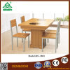 나무로 되는 색깔 식탁은 매력 목제 식당 테이블 및 의자를 놓는다