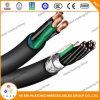 Type normal d'UL1277 Xhhw/PVC avec les câbles industriels de la gaine 2*14AWG de PVC