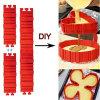 4PCS/Set font tout le matériau de Silcione de gâteau produisent le moulage de gâteau de forme que le nouveau produit DIY font des moulages cuire au four de gâteau de Bakeware de serpent