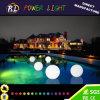 Bola de piscina iluminada recargable Esfera LED de plástico