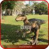 屋外の娯楽恐竜の庭の恐竜の彫像