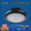 iluminação elevada linear industrial ao ar livre do louro do UFO 150W