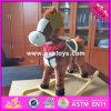 Игрушка тряся лошади оптового младенца 2017 деревянная, игрушка тряся лошади дешевых малышей деревянная с звуком W16D089 лошади