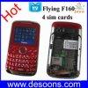 Faixa do quadrilátero do telefone móvel da tevê do vôo com Java e quatro cartões de SIM (F160)