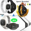La montre intelligente de bracelet de Bluetooth la plus neuve avec IP54 imperméabilisent W8
