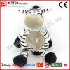 Zebra macia feita sob encomenda do luxuoso do animal enchido do brinquedo do afago para miúdos/crianças
