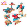 بالجملة [ديي] طفلة تربويّ يجمّع خشبيّة لعبة لأنّ أطفال [و03ب074]