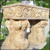 Urna de pedra natural, plantador de jardim, vaso de flor de mármore (GS-FL-014)