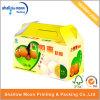 Caselle di trasporto ondulate impaccanti del contenitore della maniglia di frutta portatile su ordinazione della scatola